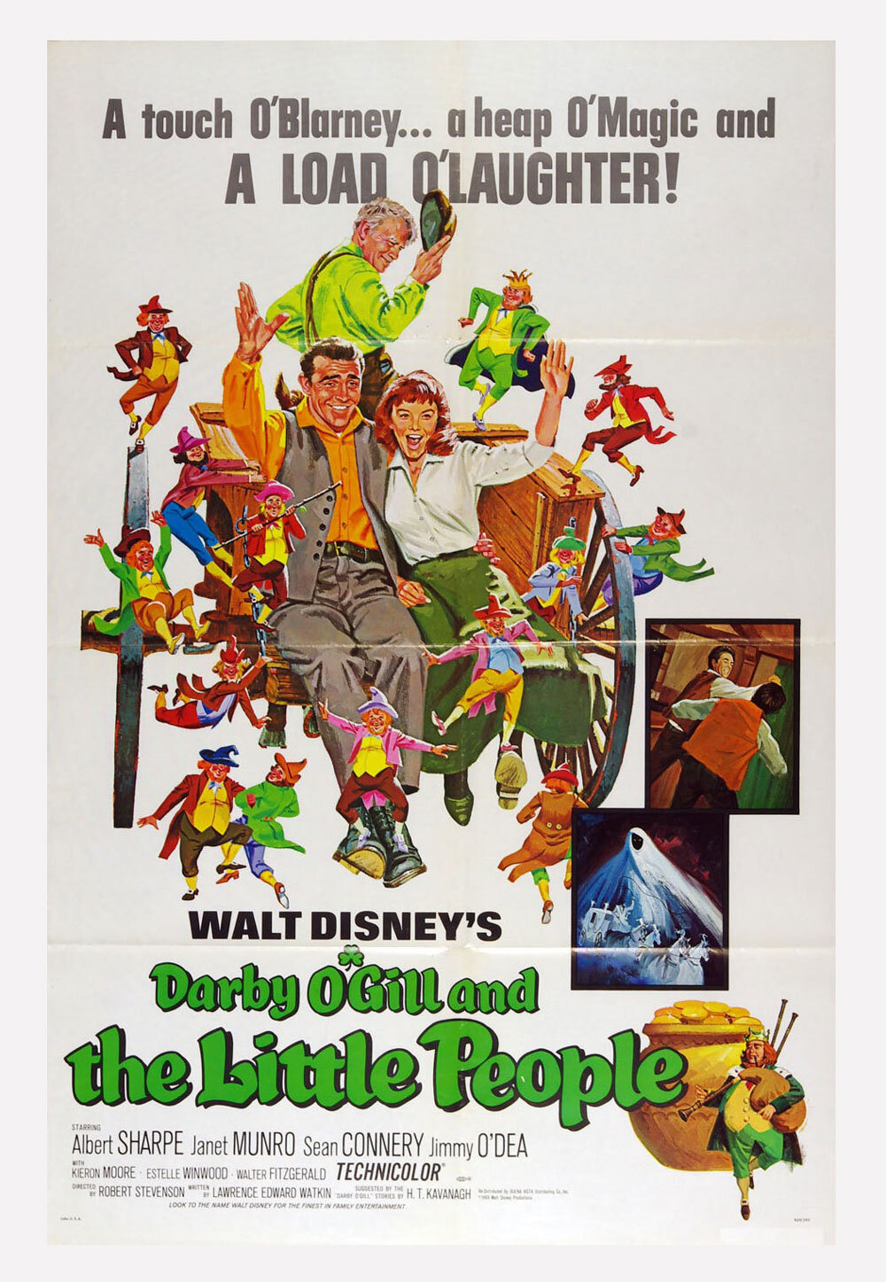Darby O'Gill and the Little People Movie Poster Sean Connery R1969 27 x 41