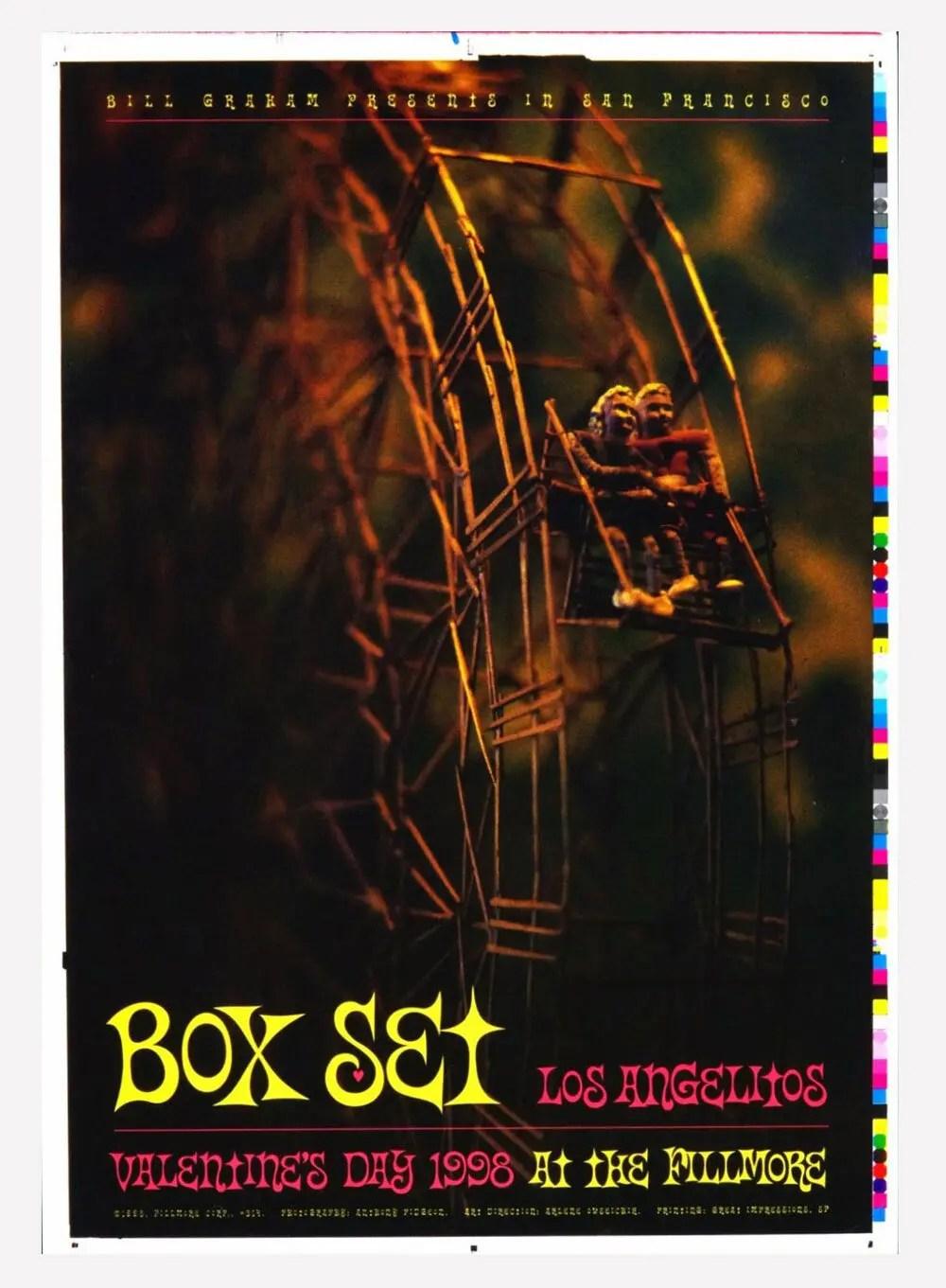 New Fillmore F314 Poster Proof Box Set Los Angelitos 1998 Feb 14