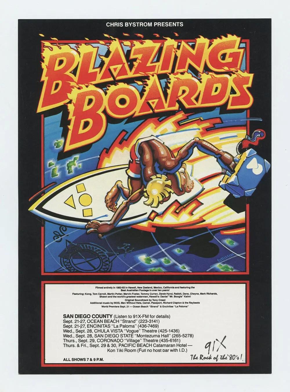 Blazing Boards Handbill 1983 Rick Griffin
