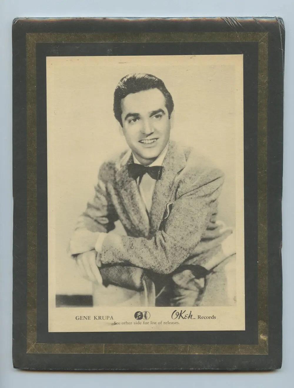 Gene Krupa Photo 1940 New Single Promo OKEH Records