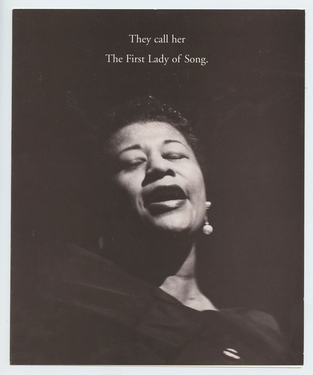 Ella Fitzgerald Photo Cover Handbill 1995 CD set Promotion GRP
