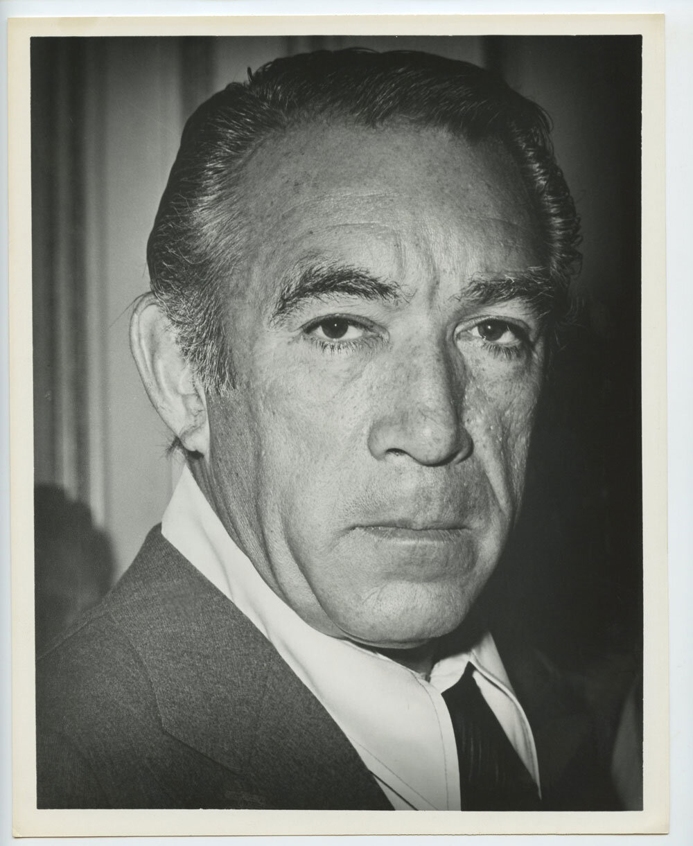 Anthony Quinn Photo 1950s Publicity Portrait