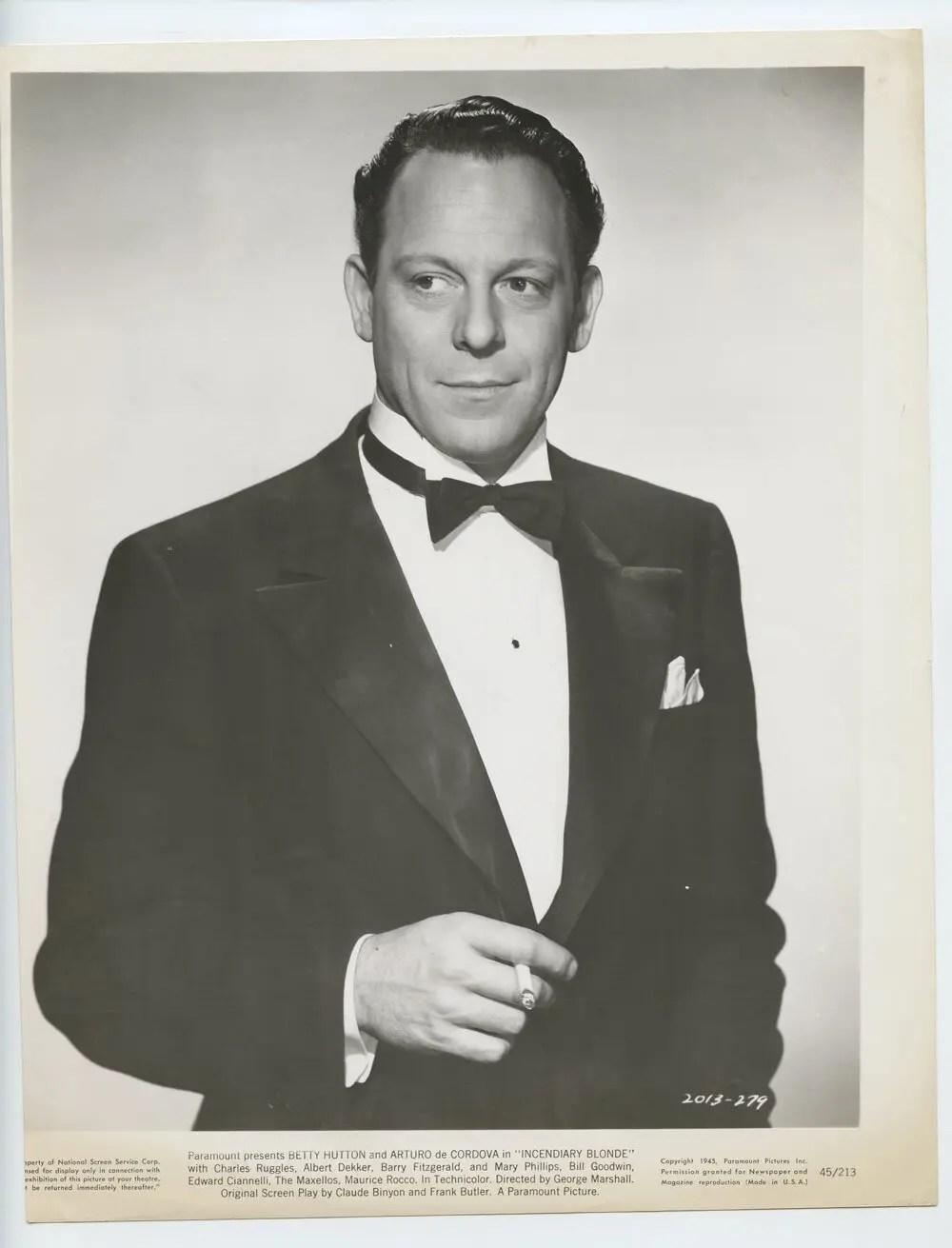 Arturo de Córdova Photo 1944 Incendiary Blonde