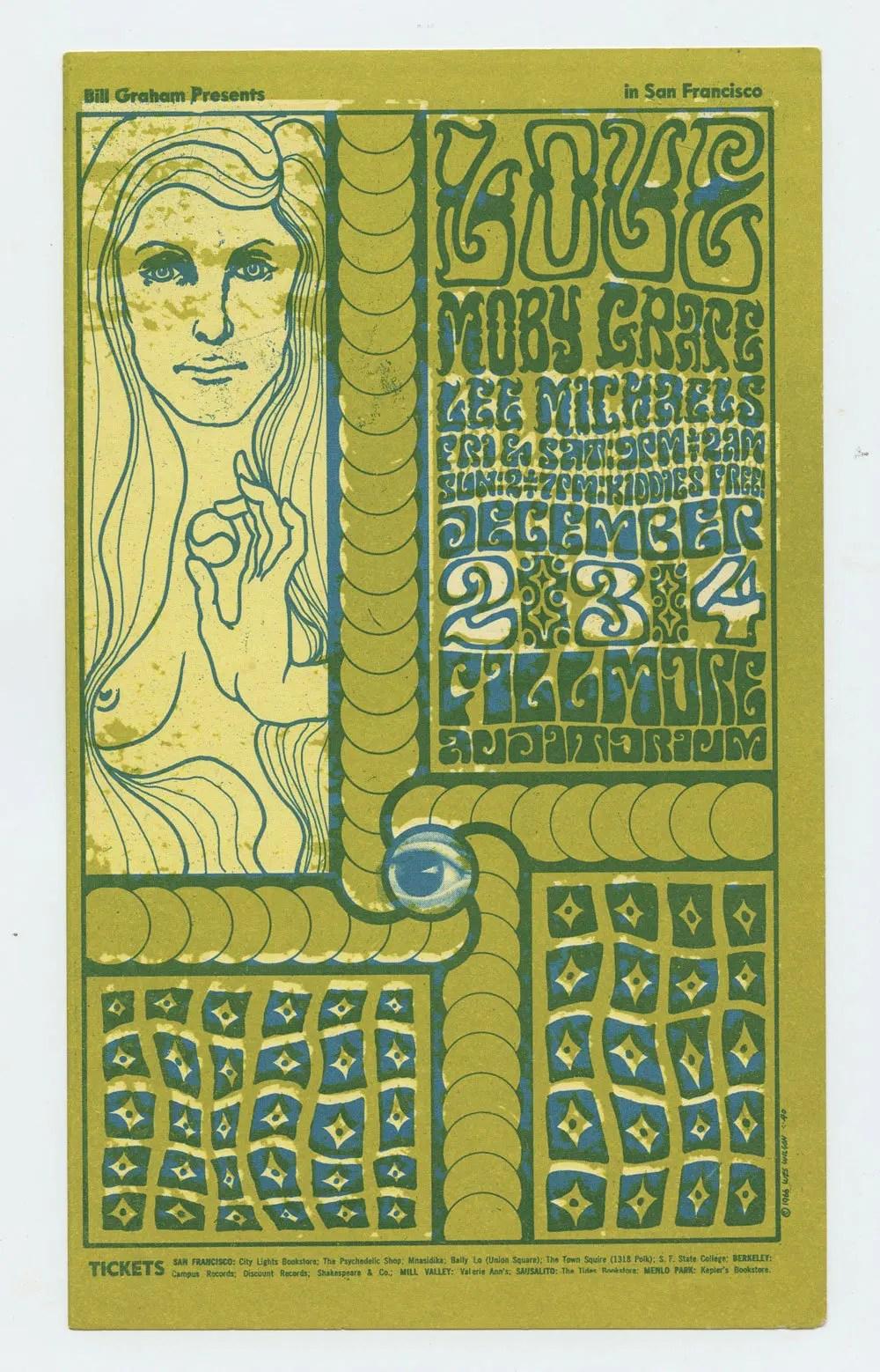 Bill Graham 40 Handbill Moby Grape 1966 Dec 24