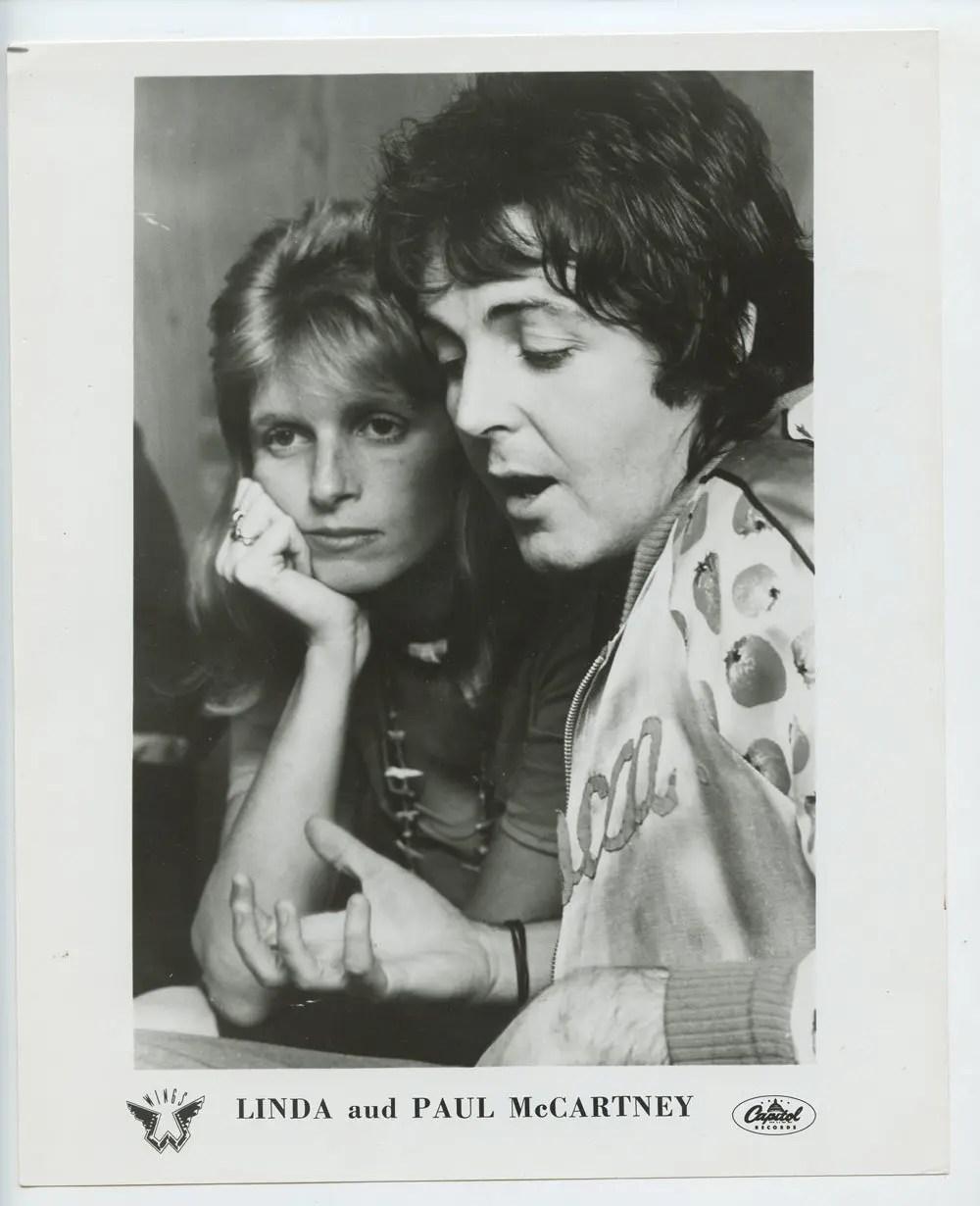 Paul McCartney and Linda Photo 1971 Publicity Promo Capital Records
