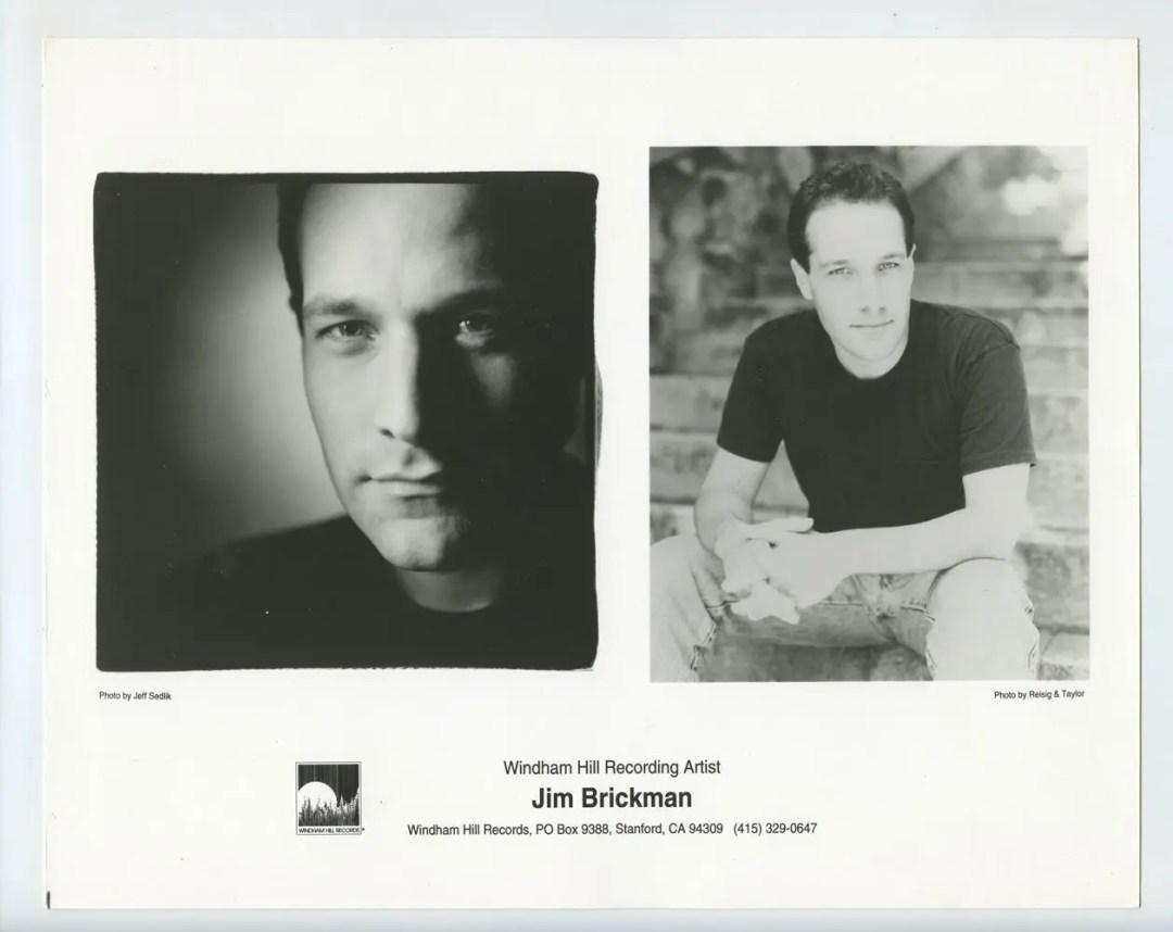 Jim Brickman Photo 1990s Publicity Promo Windham Hill Records