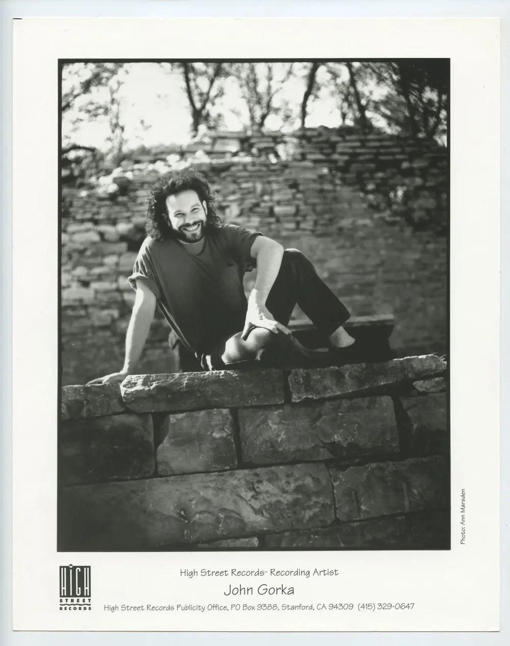 John Gorka Photo 1990s Publicity Promo Hill Street Records