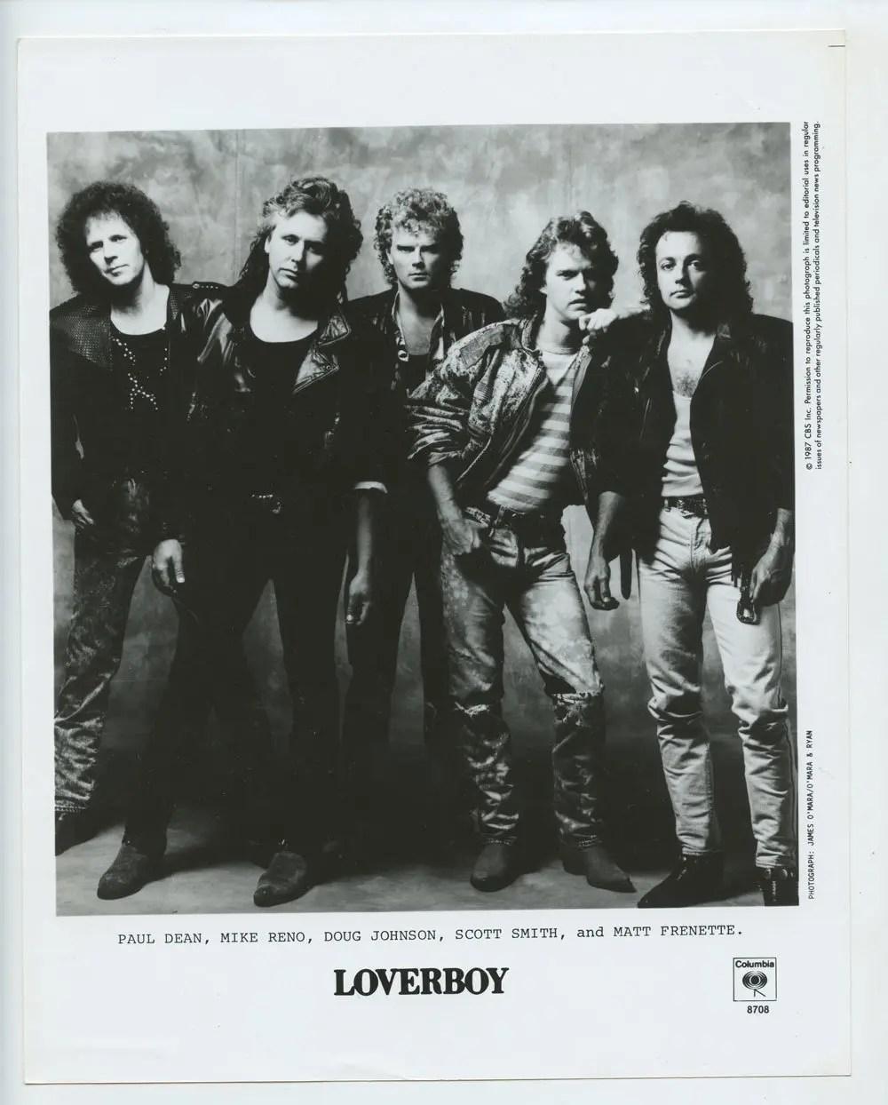 Loverboy Photo 1987 Publicity Promo CBS Records