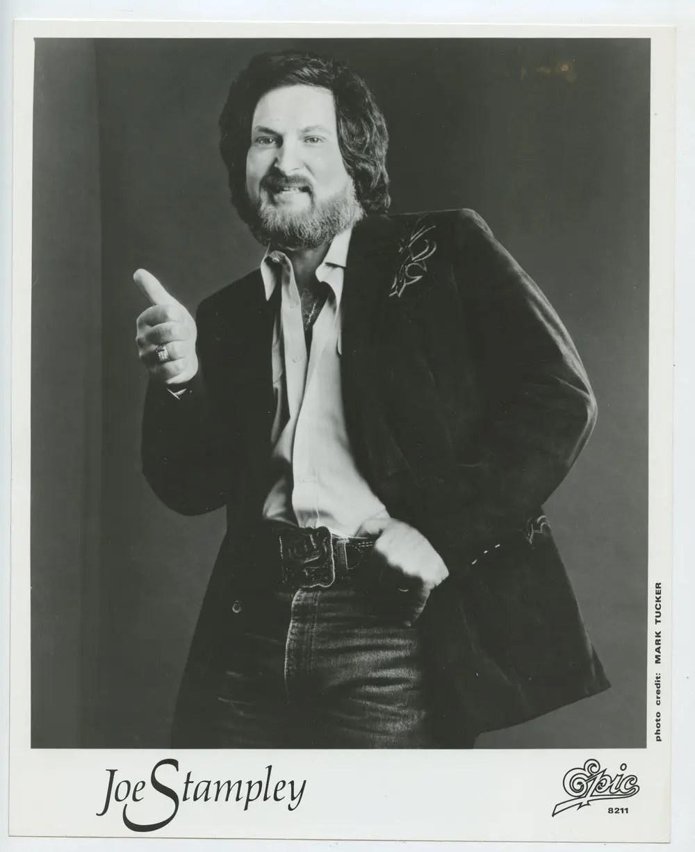 Joe Stampley Photo 1980s Publicity Promo Epic Records