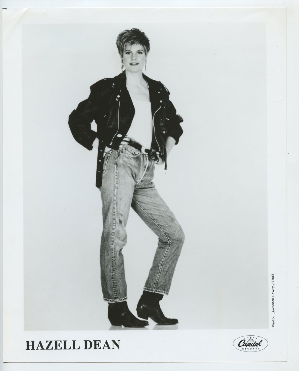 Hazell Dean Photo 1987 Publicity Promo Capital Records
