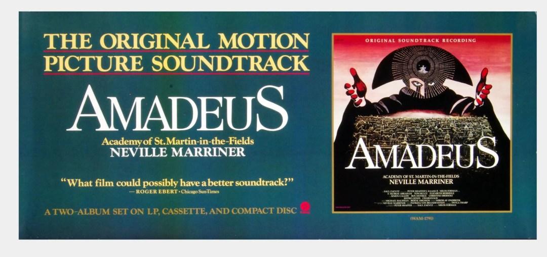 Amadeus Poster 1984 OST Album Promo 36 x 16