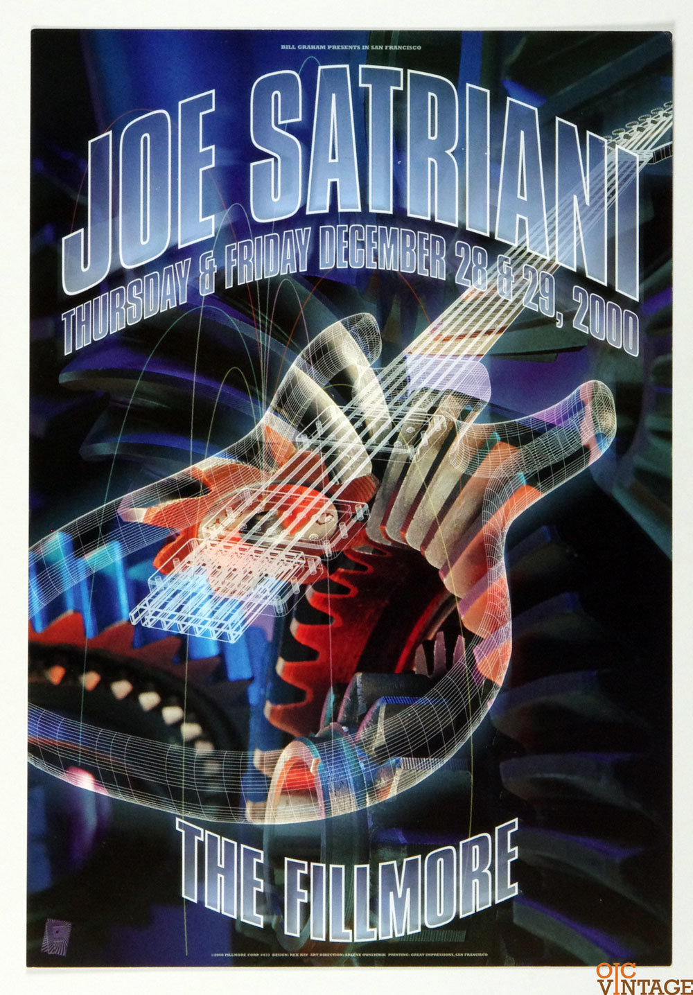 Joe Satriani Poster 2000 Dec 28 New Fillmore
