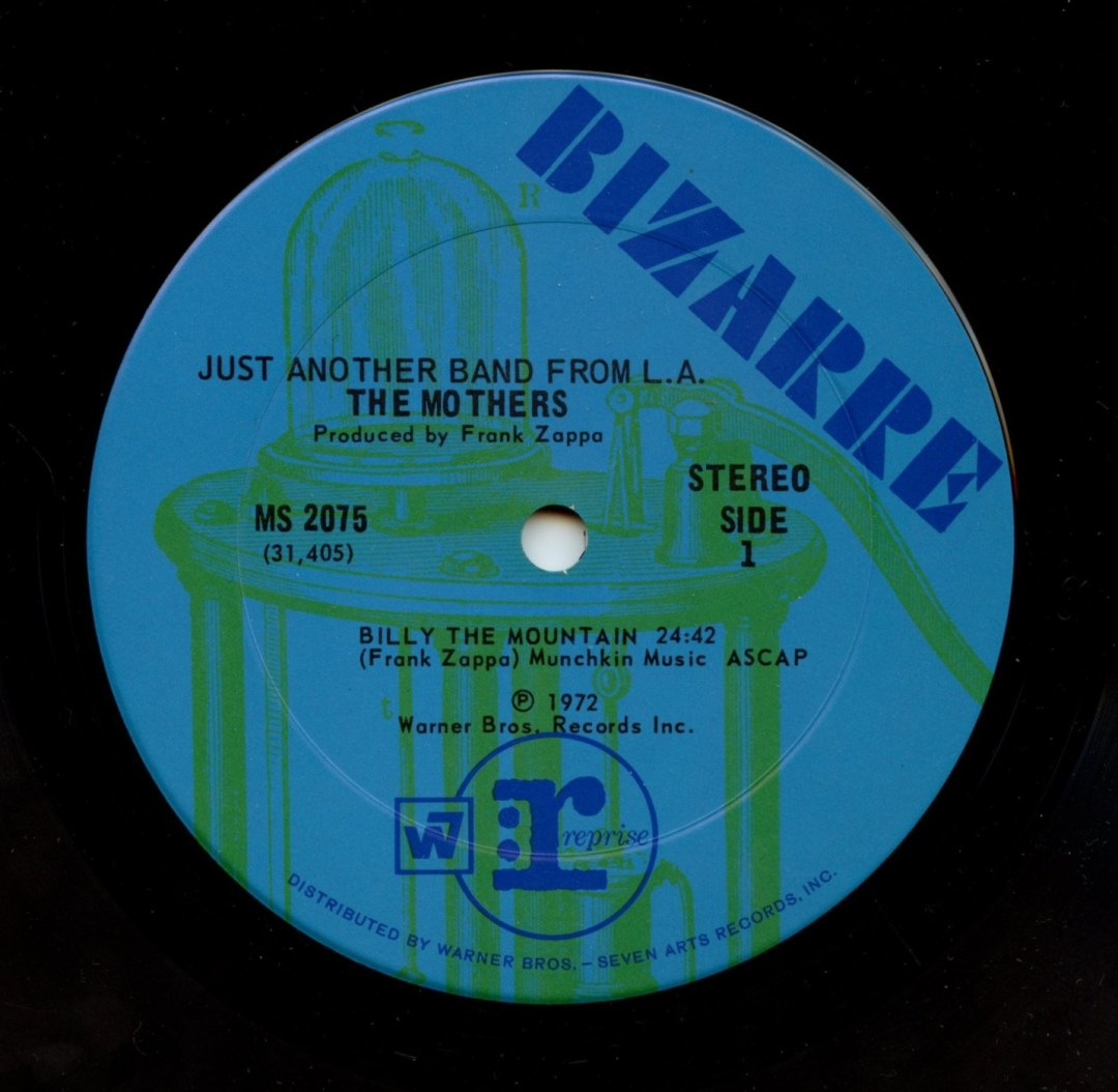 Frank Zappa The Mothers Vinyl Just Another Band From L.A. 1972