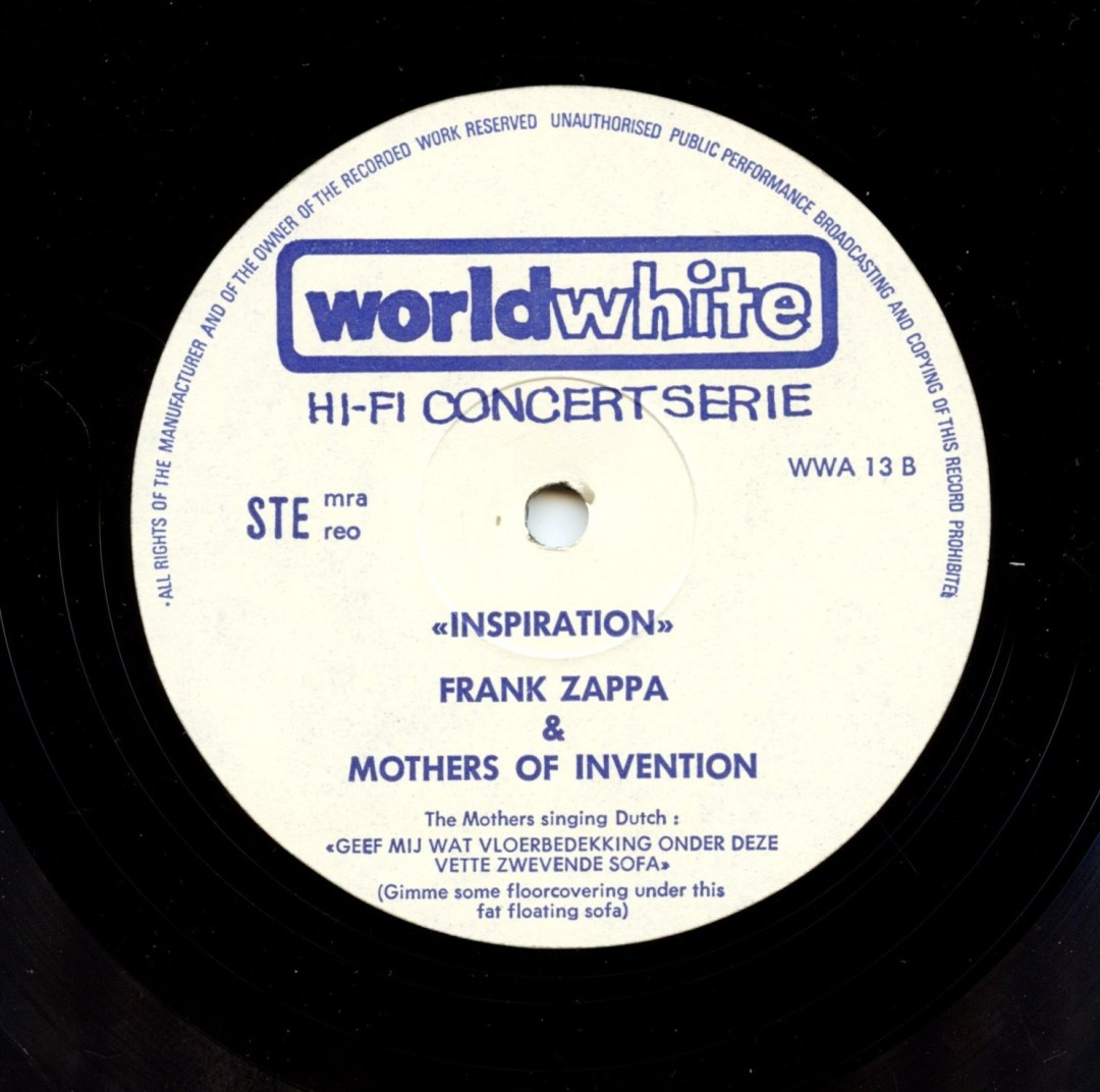 Frank Zappa And The Mothers of Invention Vinyl in Europe 1971 Holland pressing