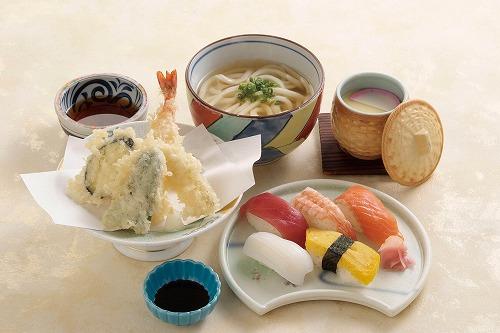天ぷら寿司セット