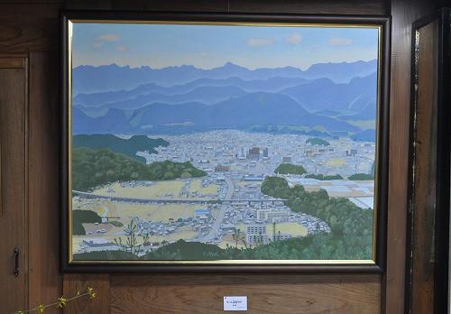 竜体山から見た、日田市の風景。