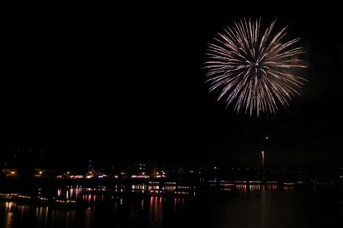 観光祭の花火、今年も見事でした。