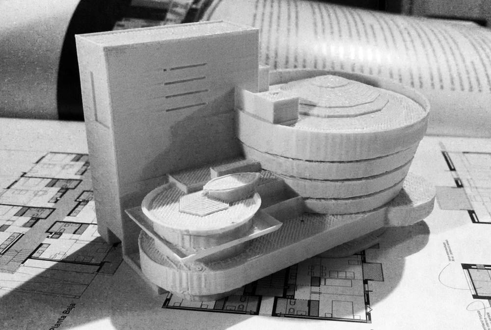MODELO DEL MUSEO GUGGENHEIM DE NUEVA YORK IMPRESO EN 3D