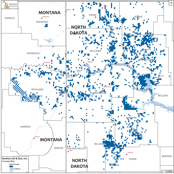 Northern Acreage as of 2014