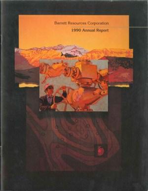 Barrett Resources 1990 Annual Report