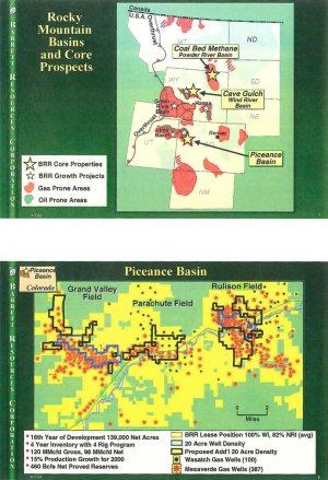 Barrett Resources Powder River Basin Acreage