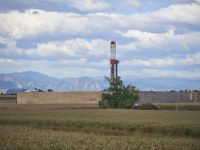 Source: Encana; Sound wall around DJ Basin well site rig niobrara colorado