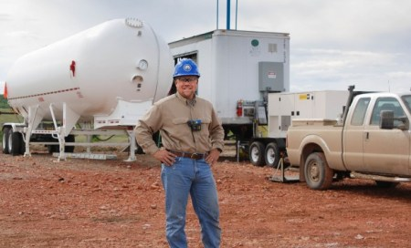 Cebull in the Bakken with GTUIT mobile unit Photo Credit: The Billings Gazette