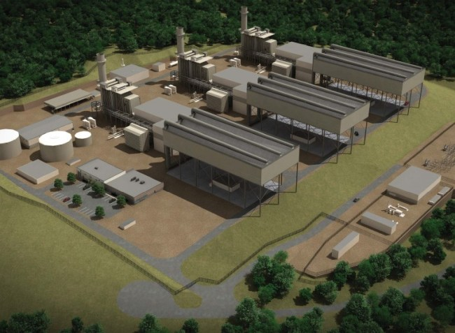 Cabot Oil & Gas will be the exclusive provider of natural gas to the Lackawana Energy Center Project, seen here in a rendering