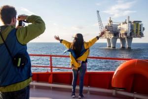 north sea oil rig cruise