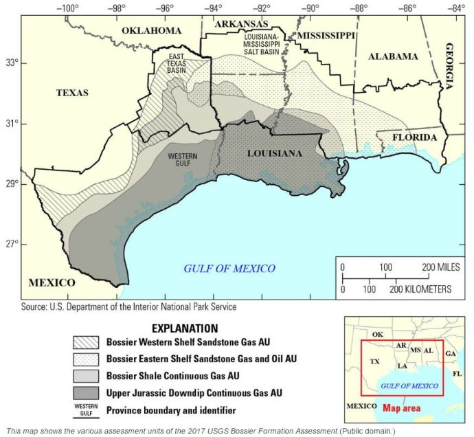 Energy for a Lifetime: USGS Quadruples NatGas Estimate from 70 Tcf to 304 Tcf for Bossier and Haynesville