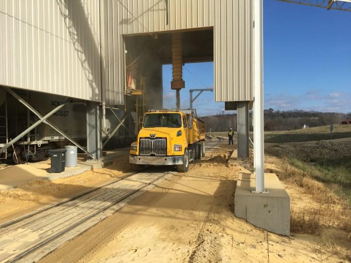 Hi-Crush sand donation to Trempealeau County
