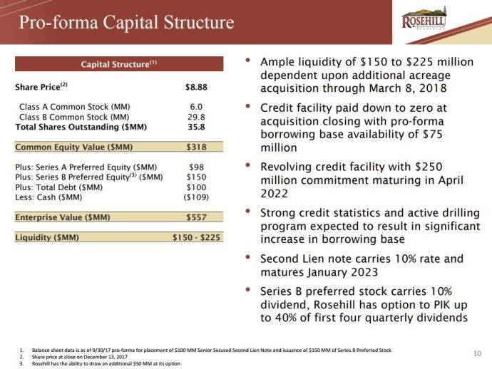 Rosehill Resources: Delaware Basin Update and 2018 Guidance