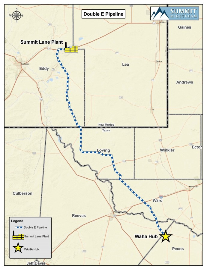 Summit Midstream Holds Open Season for Double E NatGas Pipeline