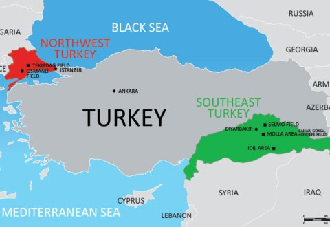Illustrative Map of Turkey