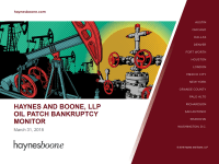 E&P Bankruptcy Filings Down 67% in 2017: Haynes and Boone