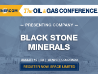 Black Stone Minerals, L.P. to Present at The Oil and Gas Conference