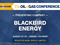 Blackbird Energy to Present at The Oil and Gas Conference
