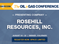 Rosehill Resources Presenting at The Oil and Gas Conference