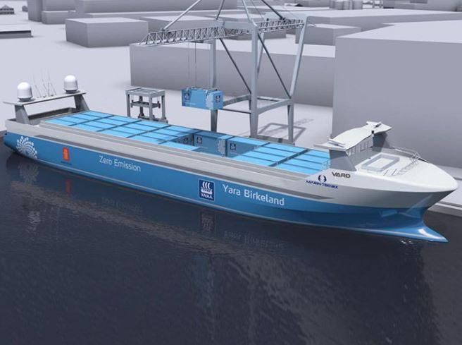 YaraOrders World's First Zero-Emissions, Zero-Crew Containership