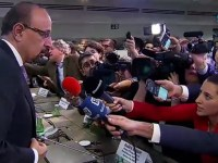 Khalid A. Al-Falih, Saudi Arabia's minister of Energy, Industry & Mineral Resources speaks to reporters following the OPEC press conference Dec. 7, 2018.