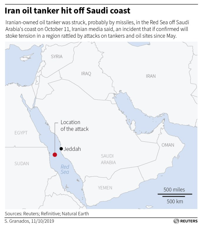 Iranian oil tanker hit off Saudi coast, may have been missiles: Iran reports - oil and gas 360