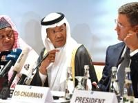 Russian Oil Minister Alexander Novak (right) speaks to his Saudi Arabian counterpart Prince ... Getty Images
