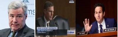 Senators Sheldon Whitehouse- Brian Schatz - Martin Heinrich