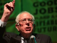 Sen. Bernie Sanders, seen in May 2019, has one of the most ambitious climate change plans among 2020 Democratic presidential contenders, but his opponents say it's unrealistic. Alex Wong/Getty Images