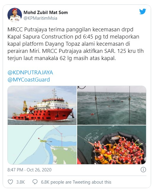 One dead after offshore support vessel struck oil rig off Malaysia - 124 later rescued -Oilandgas360