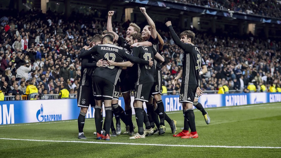 Acciones del Ajax suben después de derrotas al Madrid