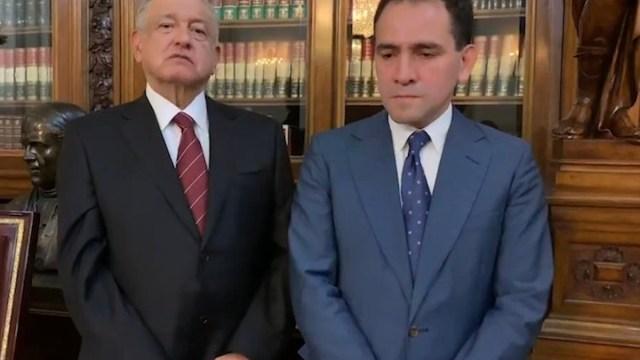 Arturo herrera y AMLO