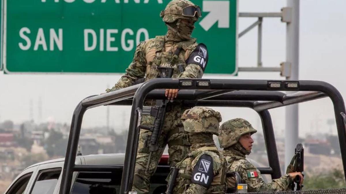 Elementos de la Guardia Nacional en México