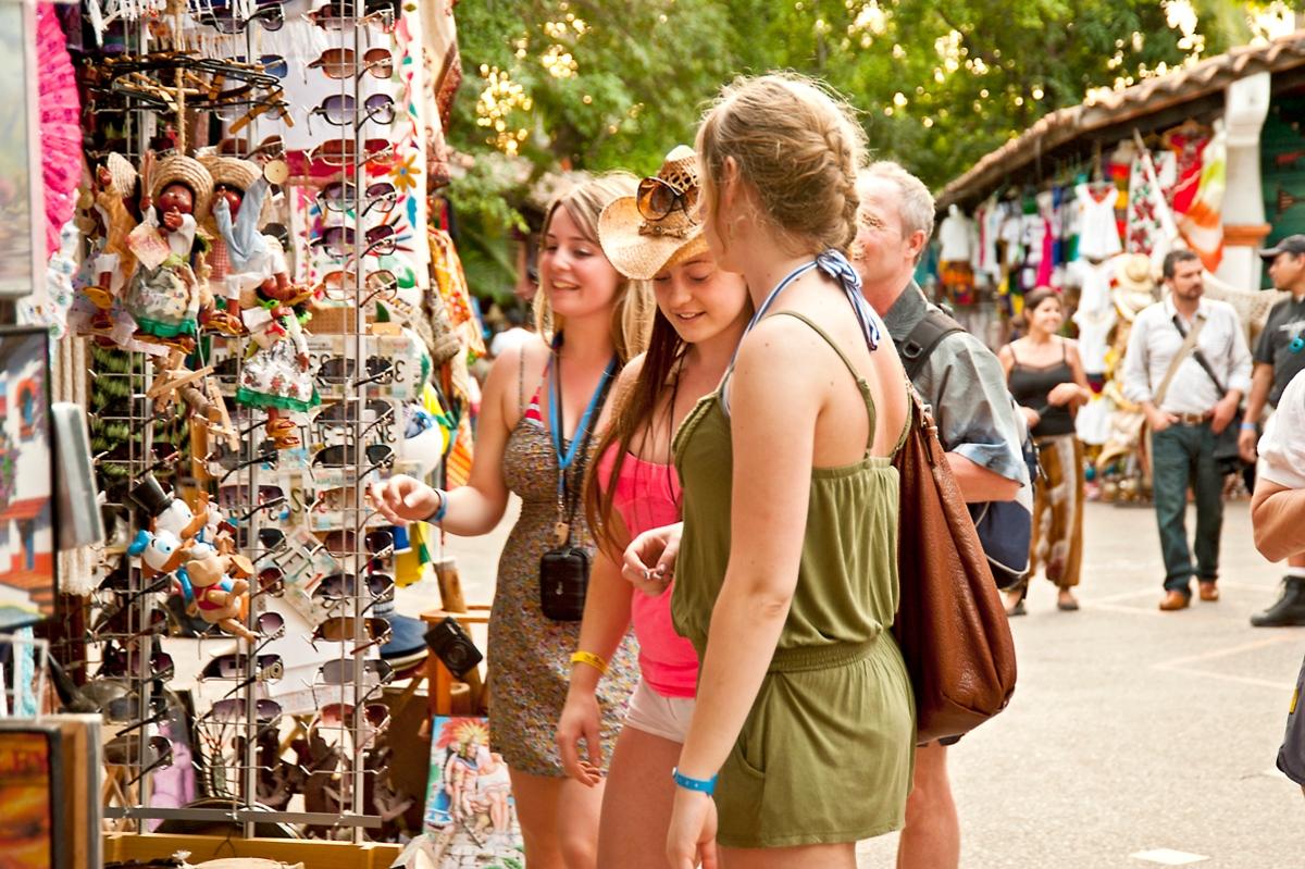 Turistas extranjeros en México