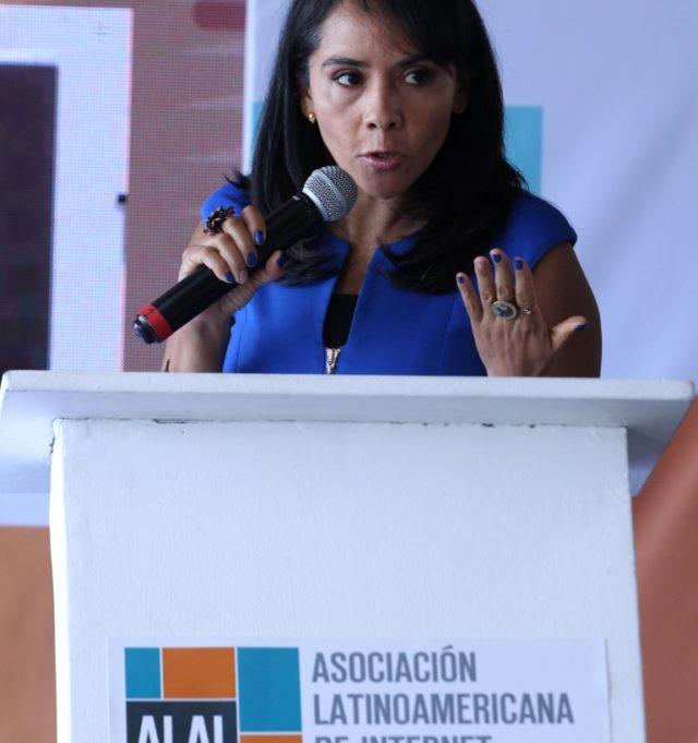 La representante de la Asociación Latinoamericana de Internet (ALAI), Sissi de la Peña, CDMX, México, 15 de octubre de 2019 (Imagen: Especial)